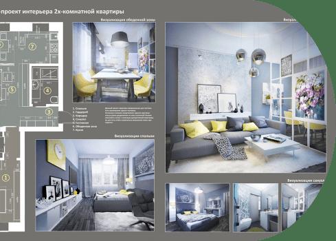 Дизайн интерьера квартиры под ключ. Заказать дизайн интерьера от Ремонтофф. Только опытные дизайнеры, цены от 500 руб./м2.